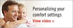 Personalizing your comfort settings